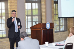 The League's Anthony Minghine speaks in Trenton about municipal finance Wednesday, May 18, 2016.